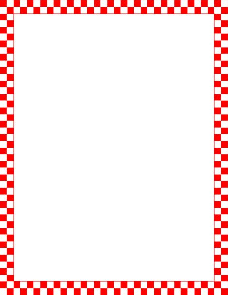Printable red and white checkered border. Free GIF, JPG, PDF, and.