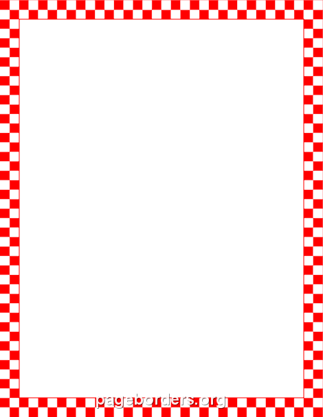 Red and White Checkered Border: Clip Art, Page Border, and.