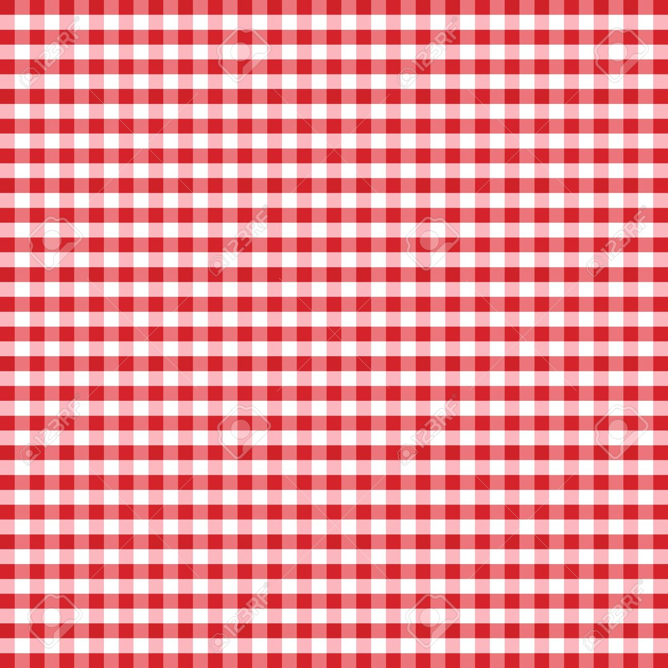 Seamless Pattern, Red And White Gingham Check Background Royalty.