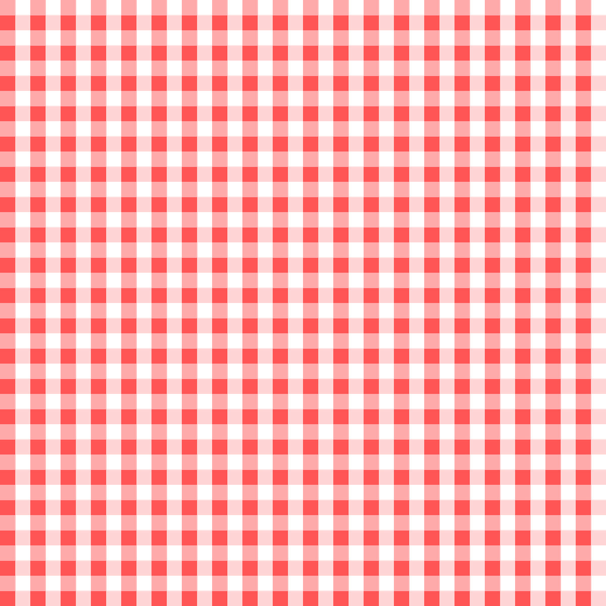 Clip Art Red and White Checkered Placemat.