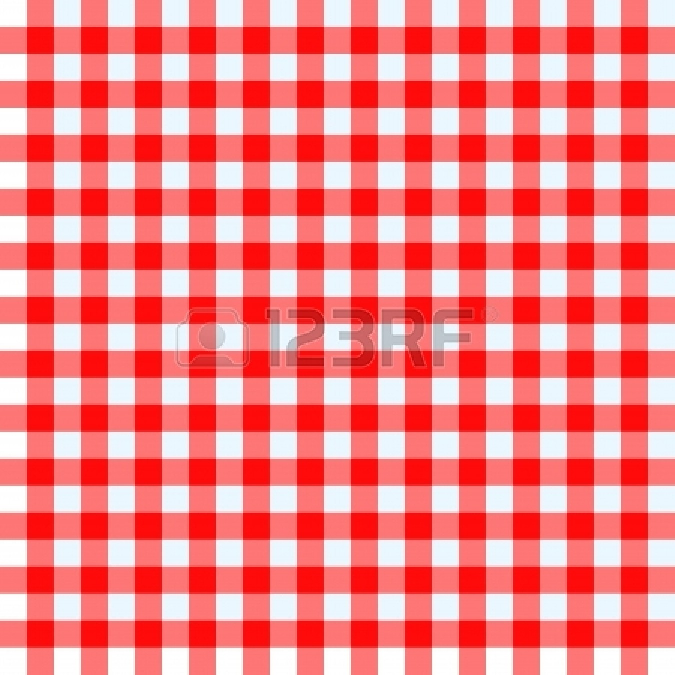 Red and white checkered clipart.