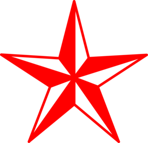 Red And White Star clip art.
