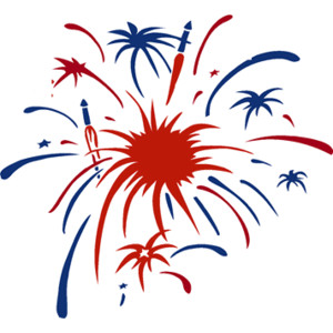 red white and blue firework clipart #8