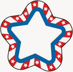 Red and White Stars Clip Art.