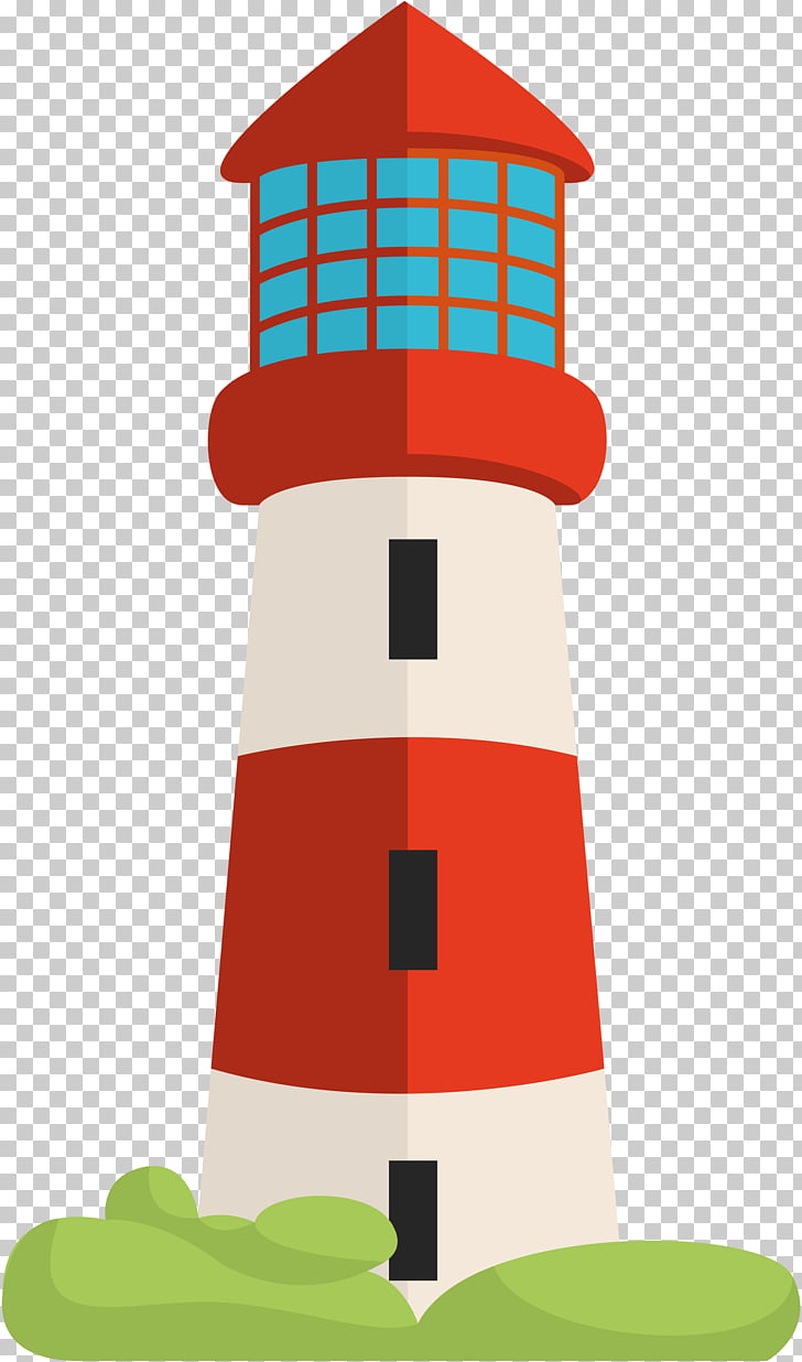 Lighthouse , Red And White Stripes PNG clipart.
