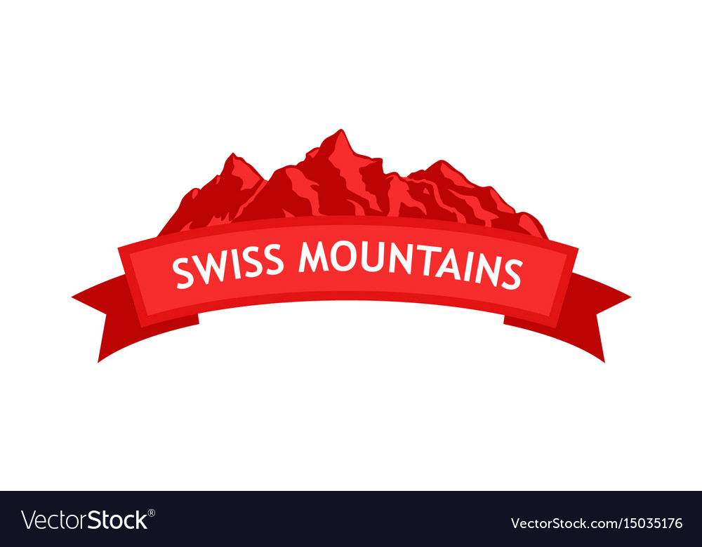 Logo of swiss mountains.