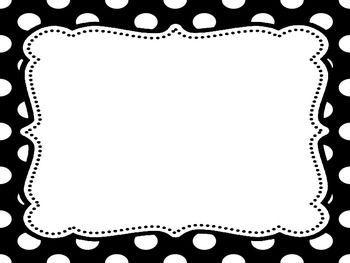 14 Awesome black and white polka dot border clip art.