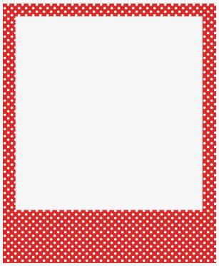 Red Dot Border, Frame, Red, White Dot Bo #262292.