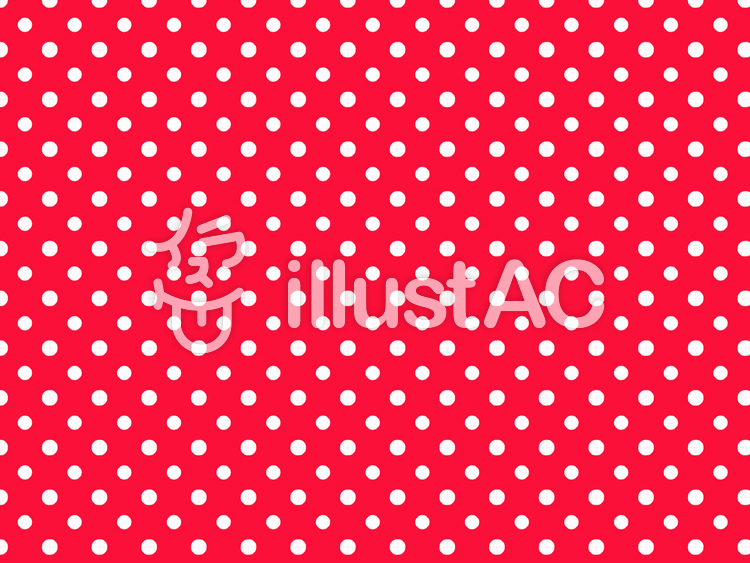 White polka dot pattern on red background.