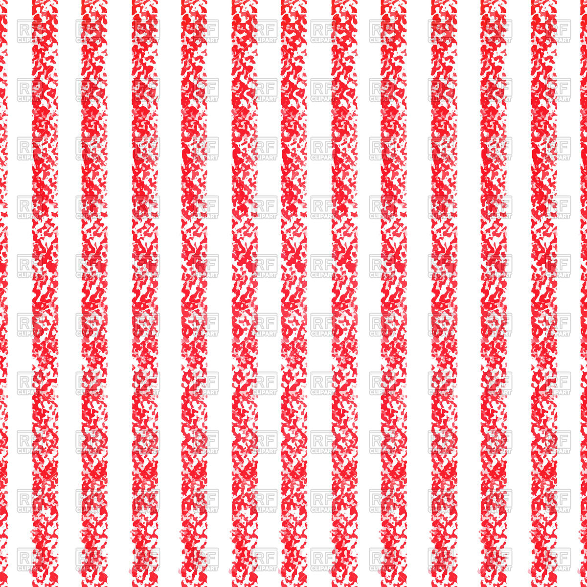 Pastel crayon background with red and white stripes Vector Image.