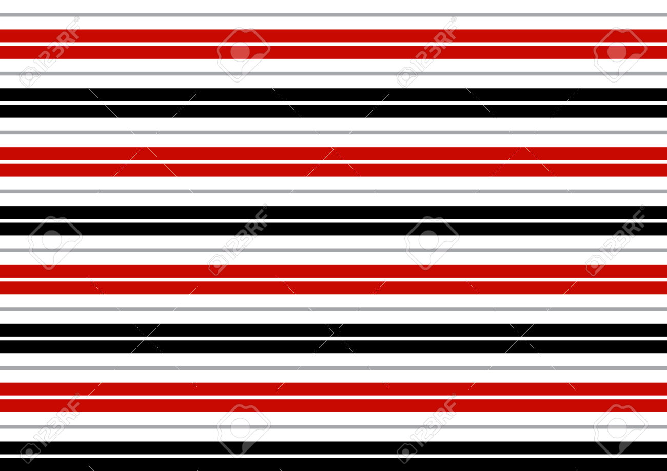 Red White And Black Striped Clipart.