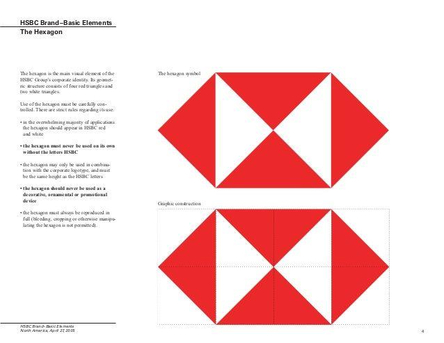Hexagon White Triangle Red Logo.