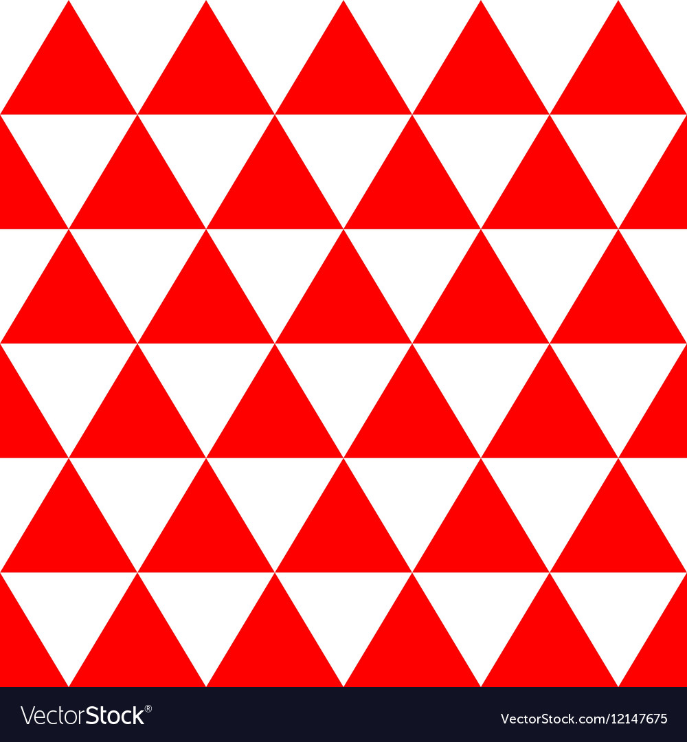 Red White Triangle Background.