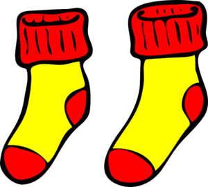 Red And Yellow Socks Clip Art at Clker.com.