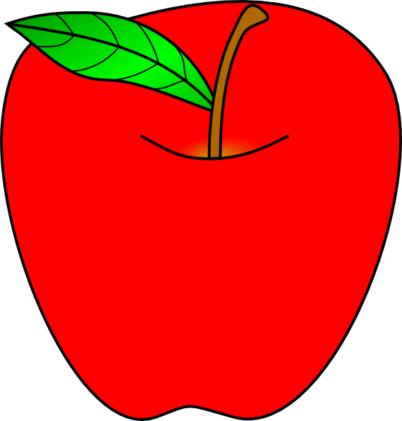 Red Apple clip art.