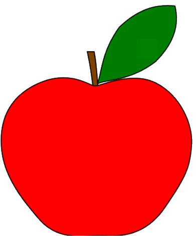 Red apple clipart free images 4.