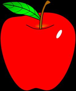 Red Apple clip art.