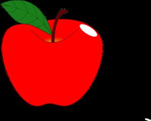 Red Apple 1 Clip Art at Clker.com.