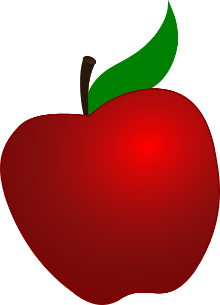 Red Apple Clipart Free.