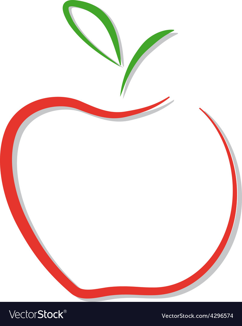 Red apple logo isolated.