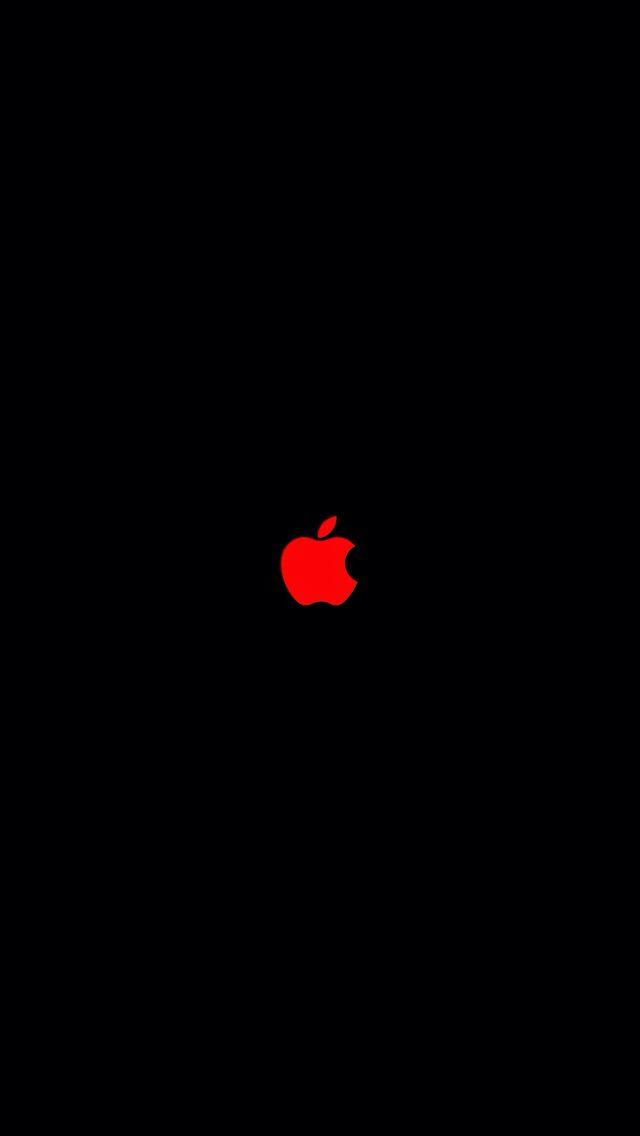 Red apple logo in 2019.