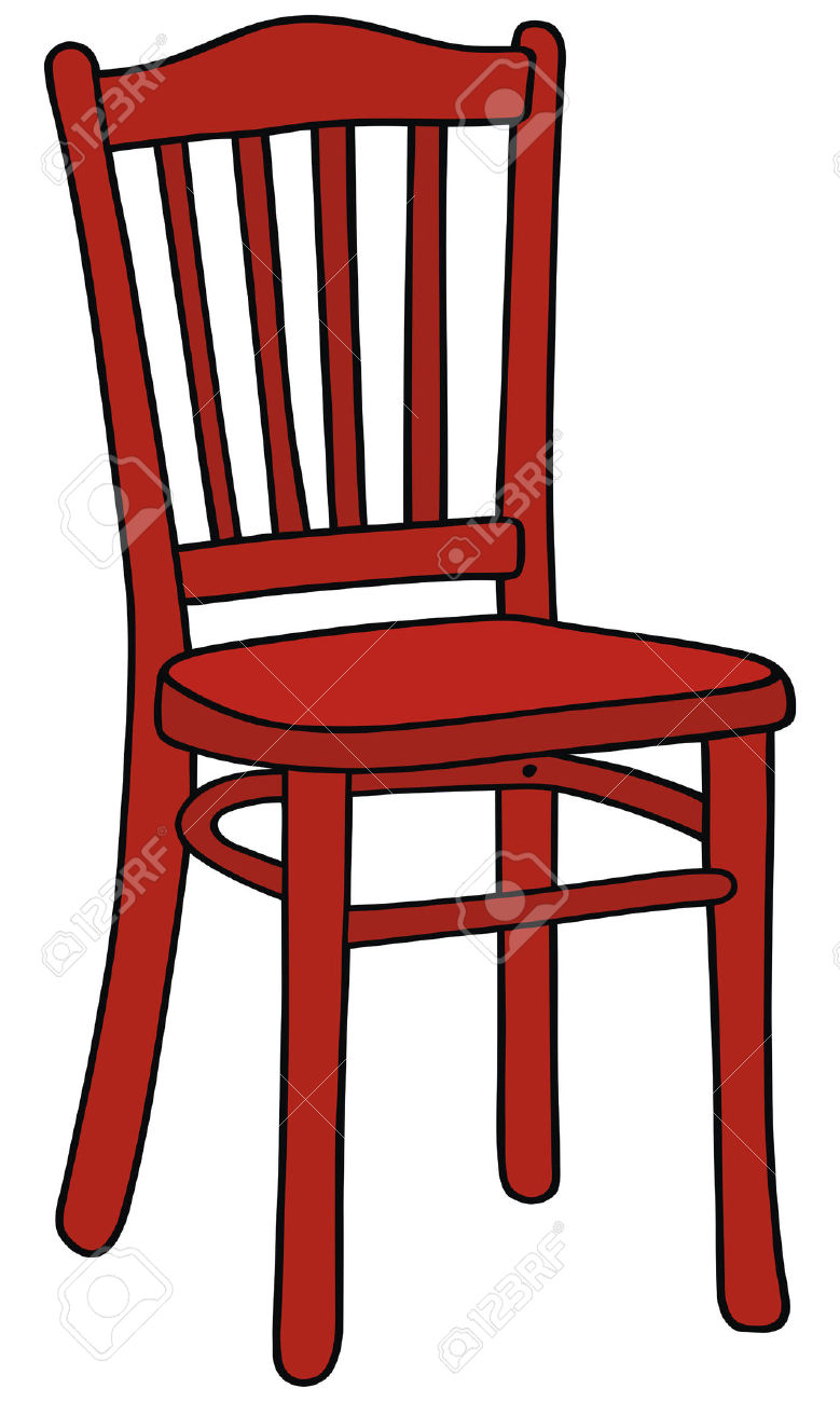 Hand Drawing Of A Red Chair Royalty Free Cliparts, Vectors, And.