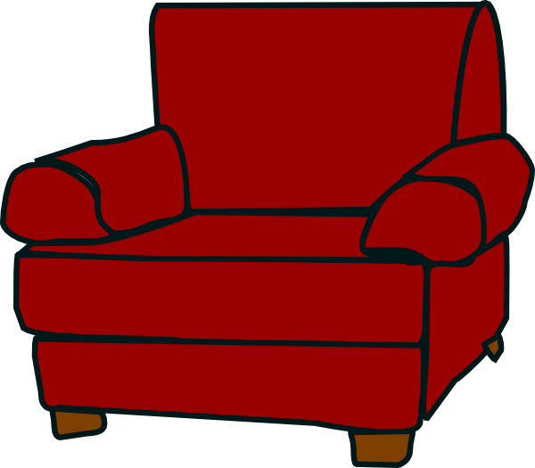 Crimson Red Armchair Clip Art at Clker.com.