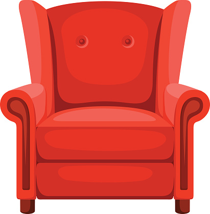 Red Armchair Clipart Clipground