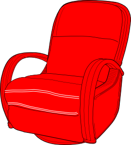 Lounge Chair Red clip art Free Vector / 4Vector.