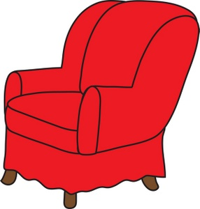Arm Chair Clipart Image.