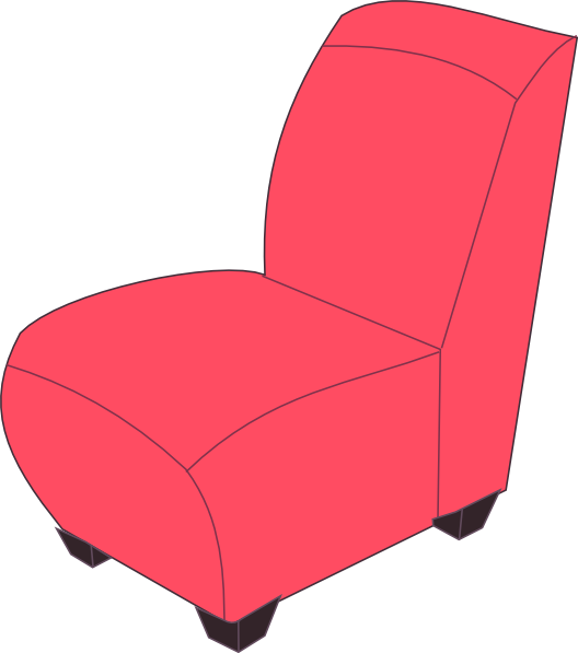 Red Armchair Clipart.