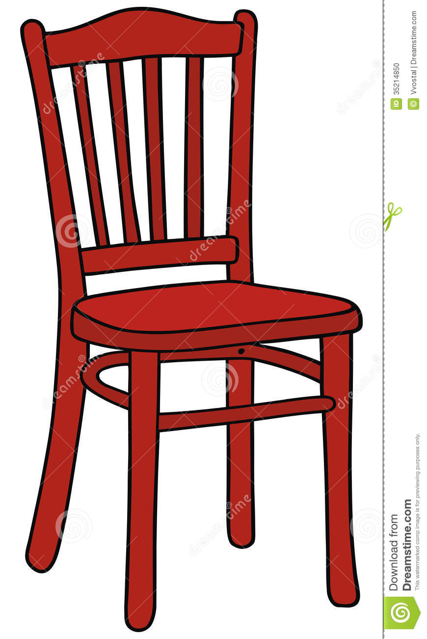 Red Chair Stock Photo.
