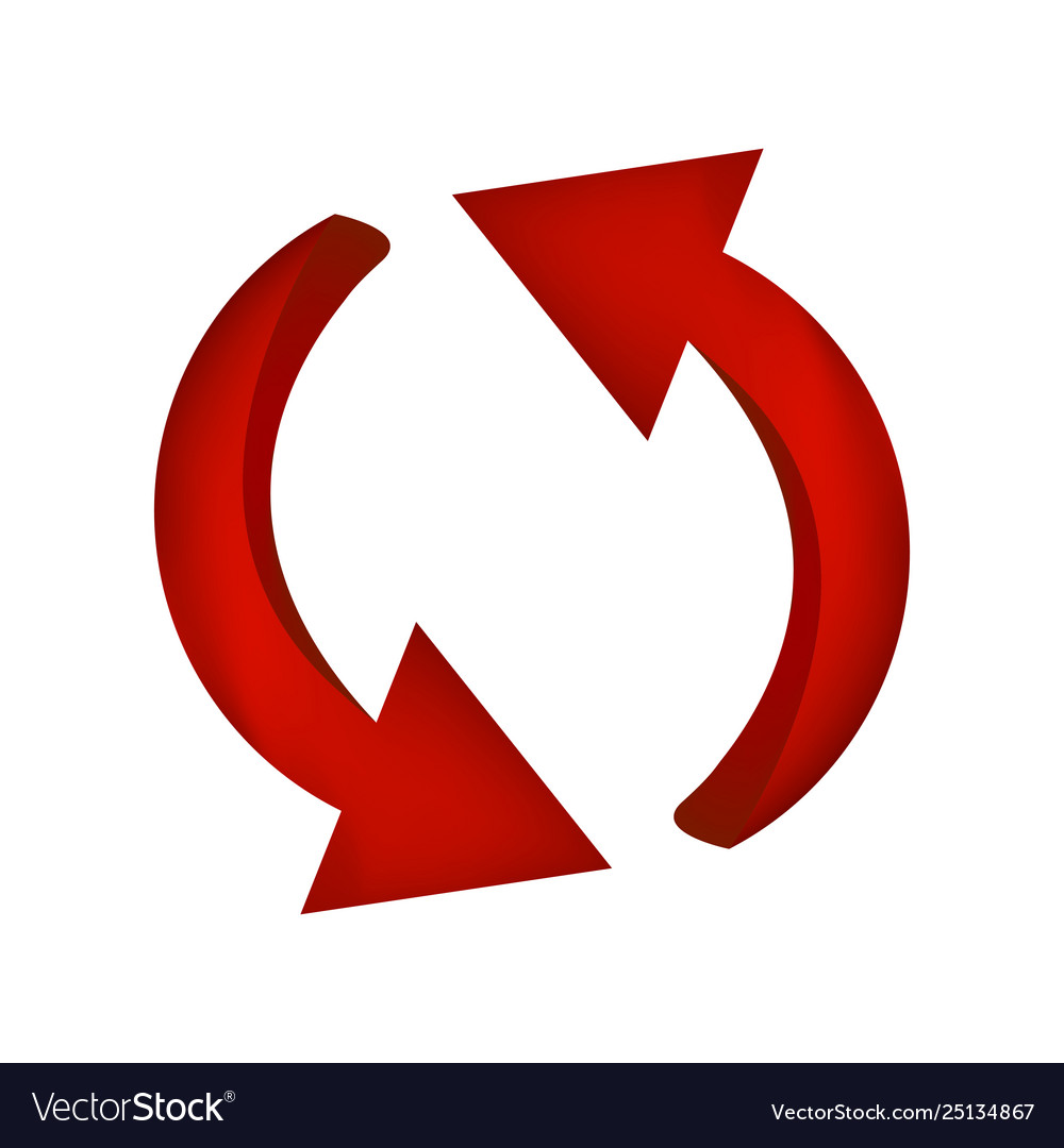 Arrow symbol red icon clipart business concept.