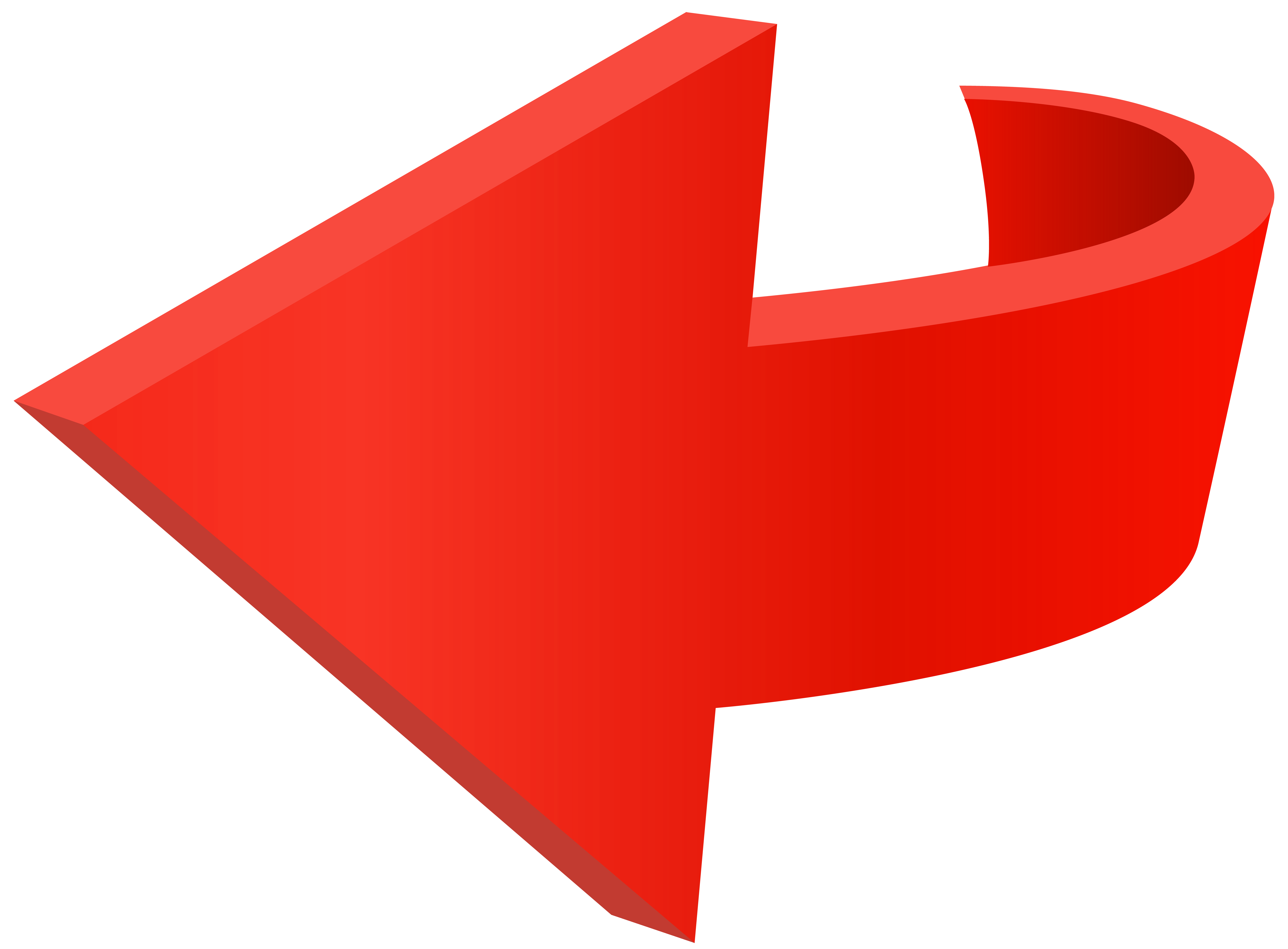 Left Red Arrow Transparent PNG Clip Art Image.