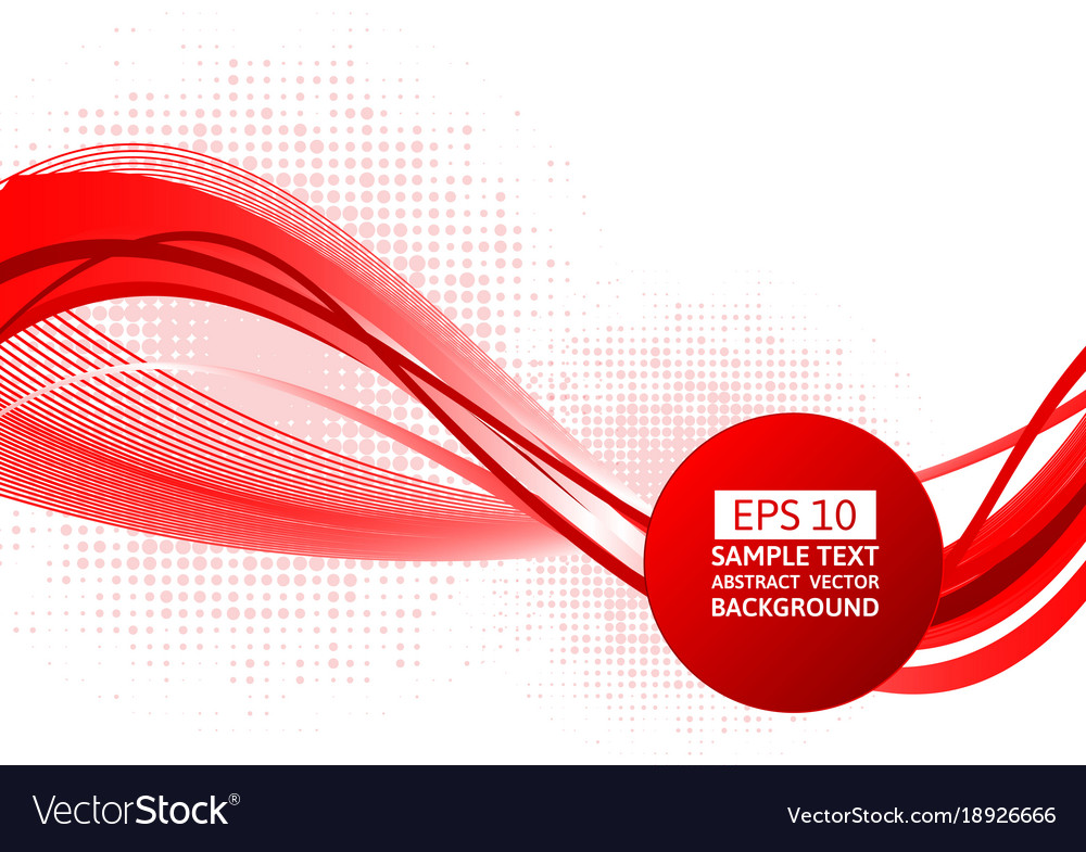 Red wave abstract background with.