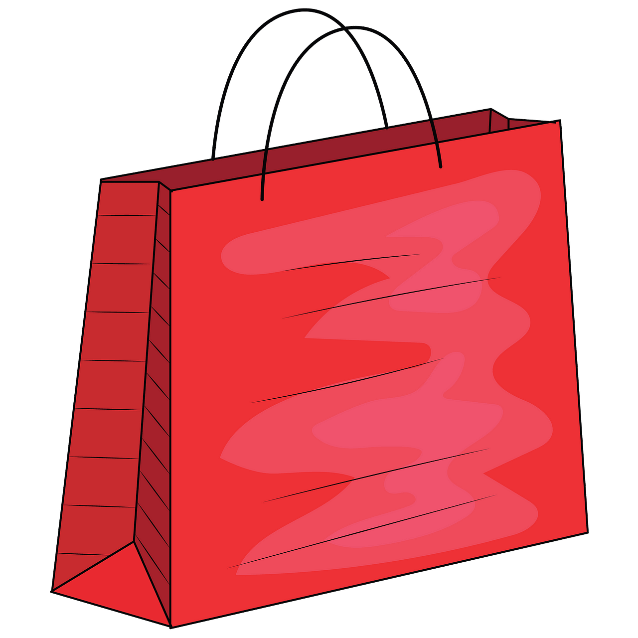 Red shopping bag clipart. Free download..