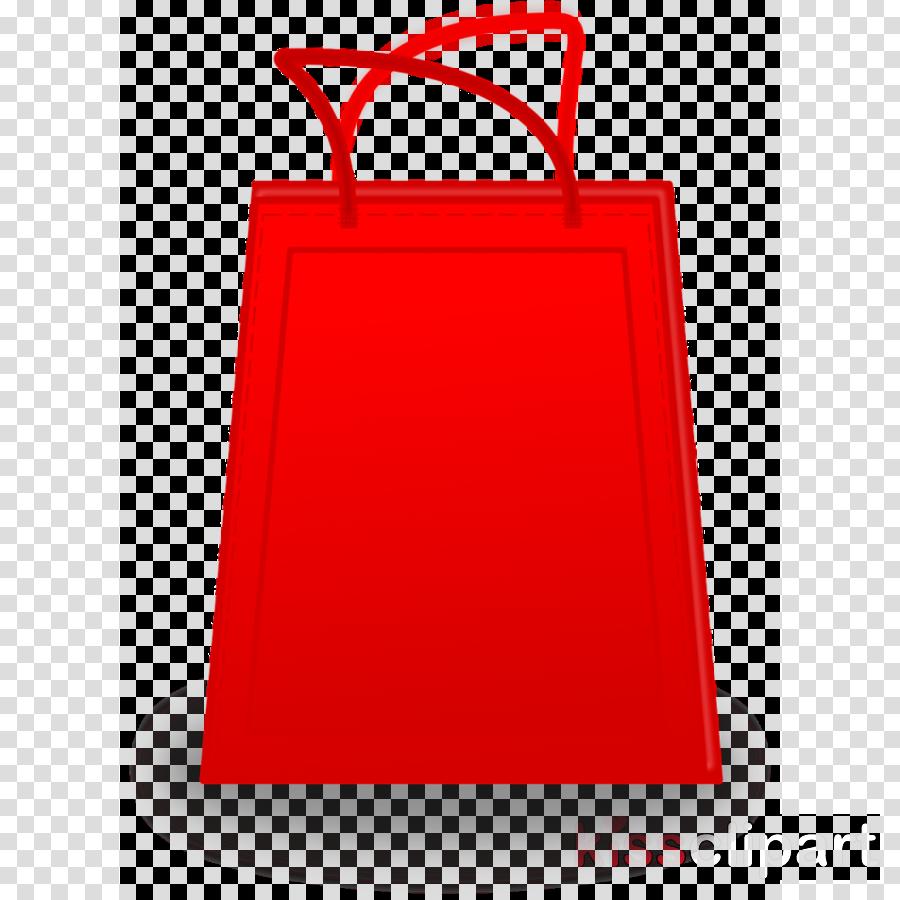 red bag paper bag clipart.