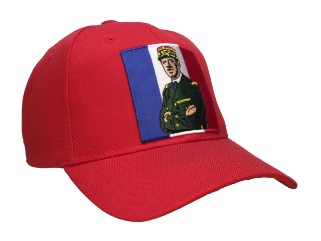 Charles De Gaulle Hat Red Ball Cap French Flag World War II French  Resistance.