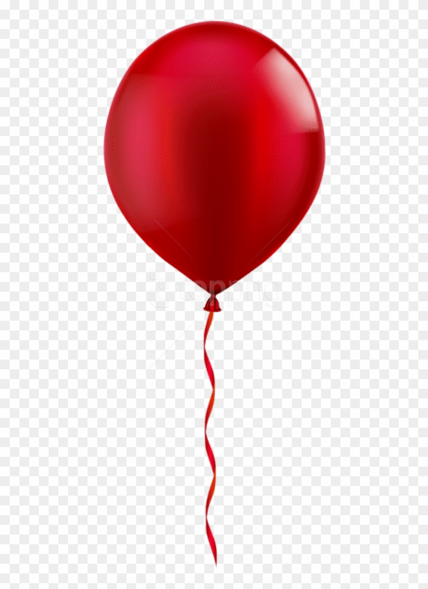 Free Png Single Red Balloon Png Images Transparent.