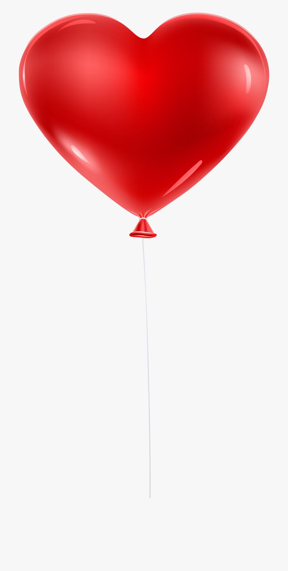 Red Balloon Heart Transparent Clip Art.