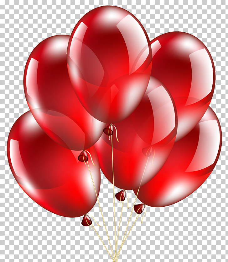 Balloon , Red Balloons Transparent , six red balloons.