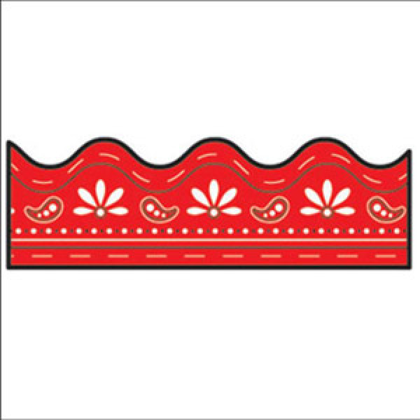 Red Bandana Border.