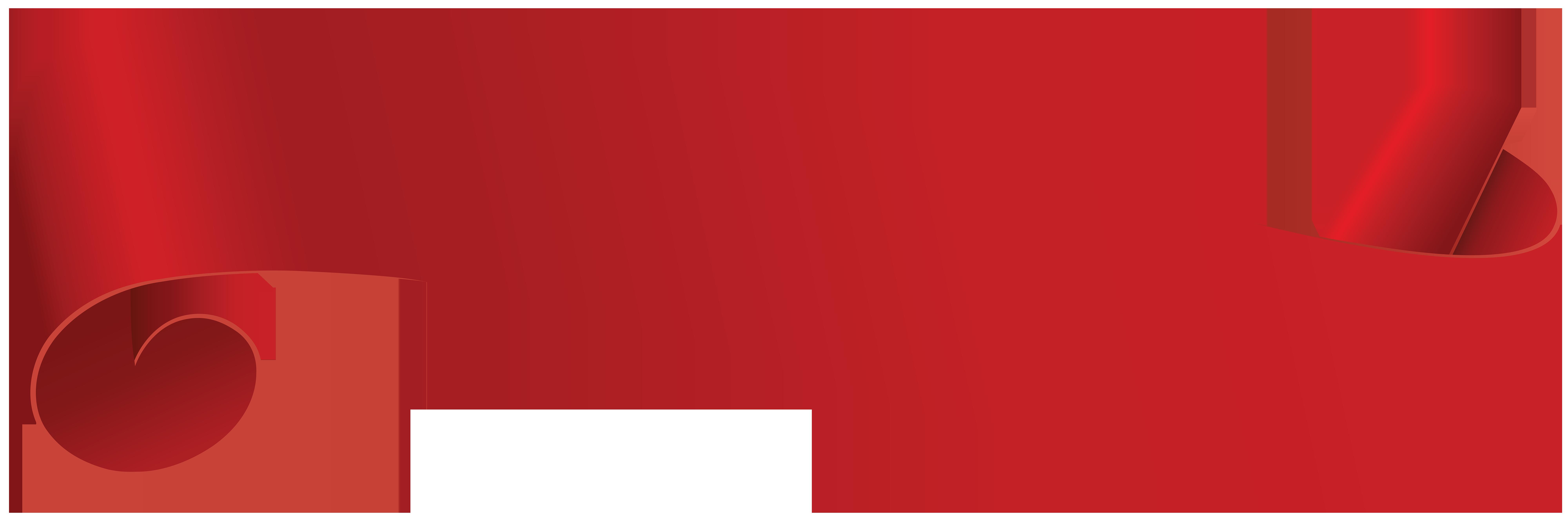 Red Banner Transparent Clip Art PNG Image.