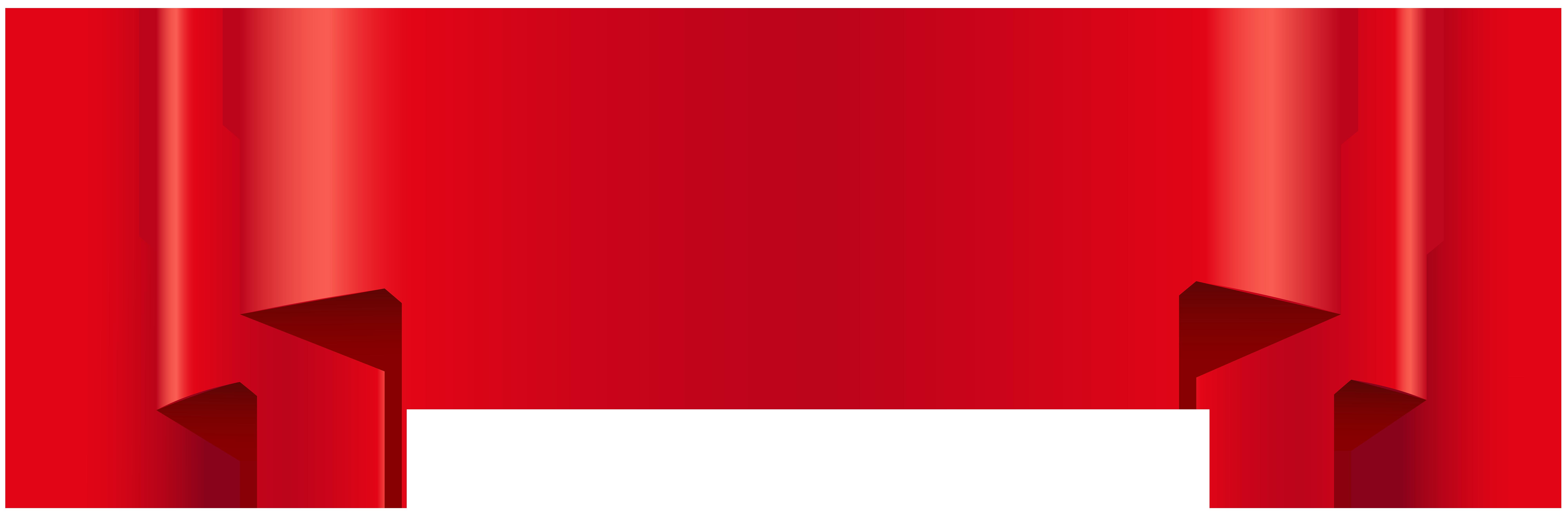 Red Banner Transparent Clip Art.