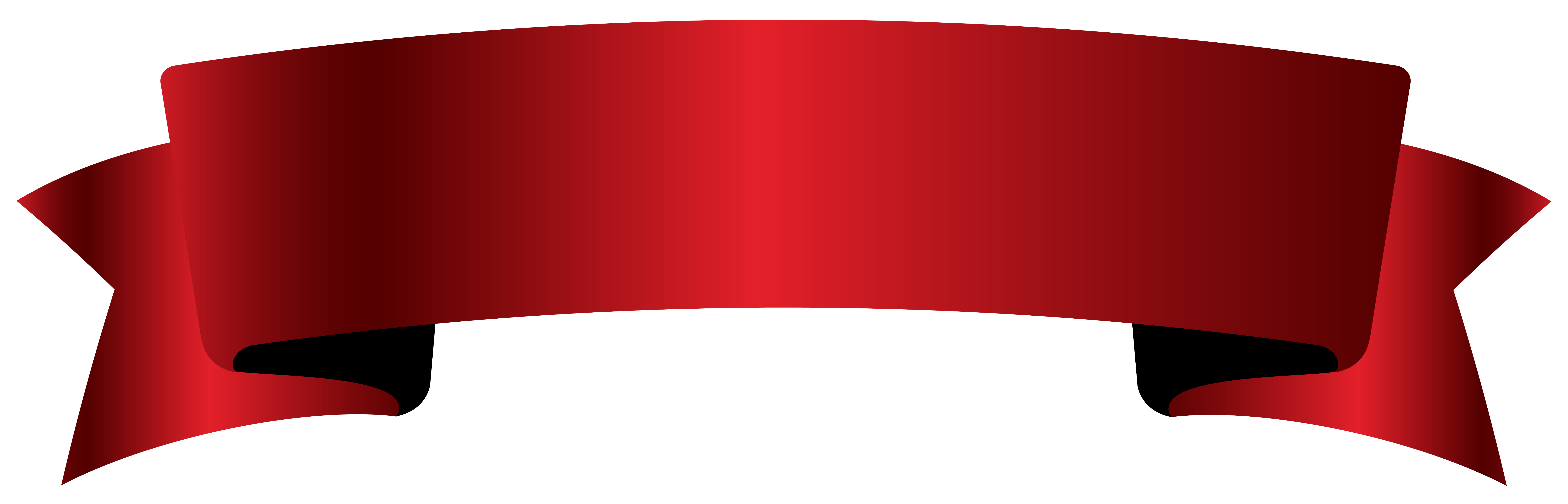 Red Banner PNG Clipart Picture.