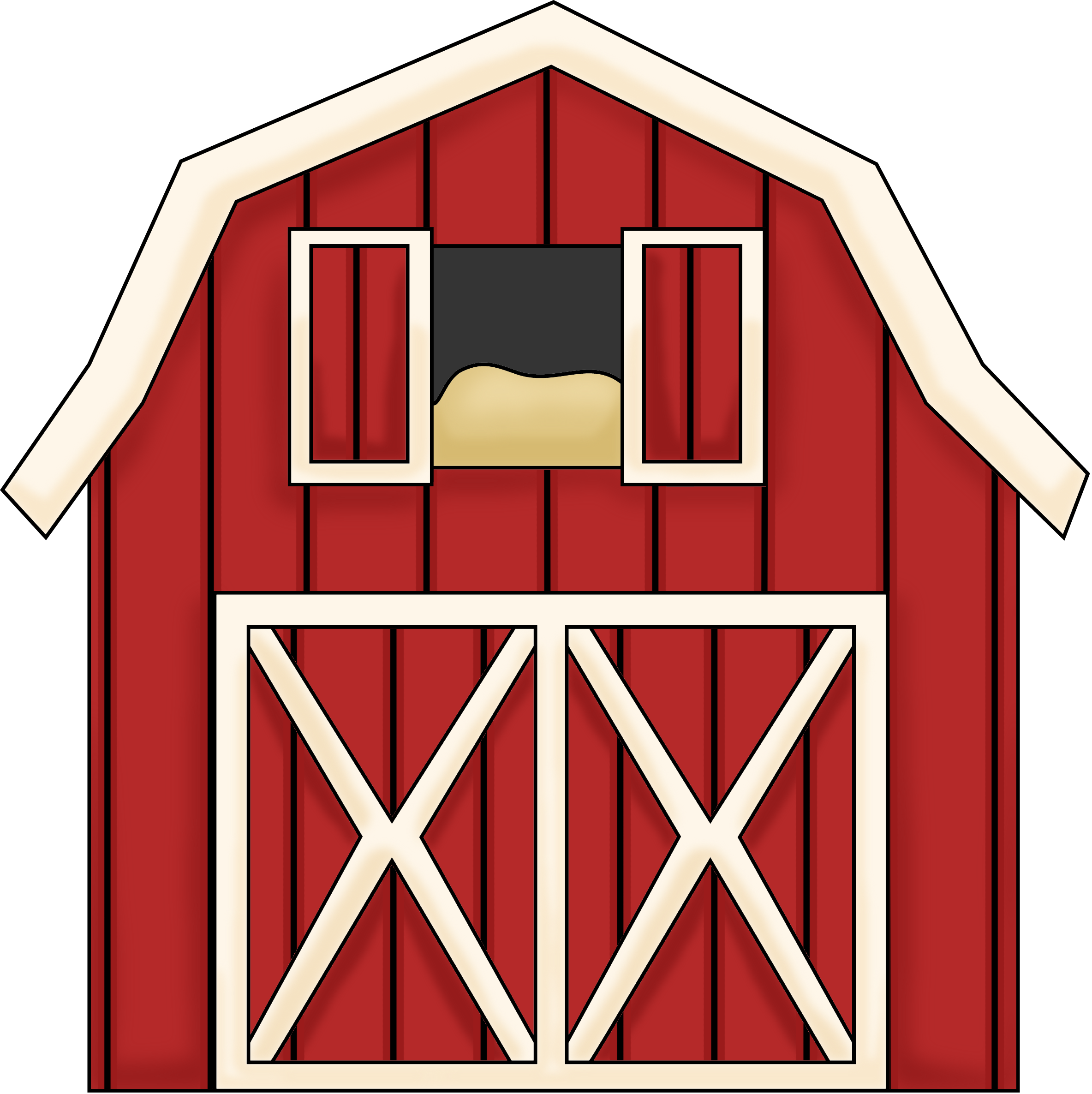 74+ Red Barn Clipart.