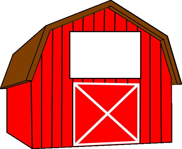Christian Clip Art Red Barn On.