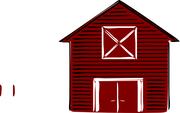 Simple Red Barn Clipart.