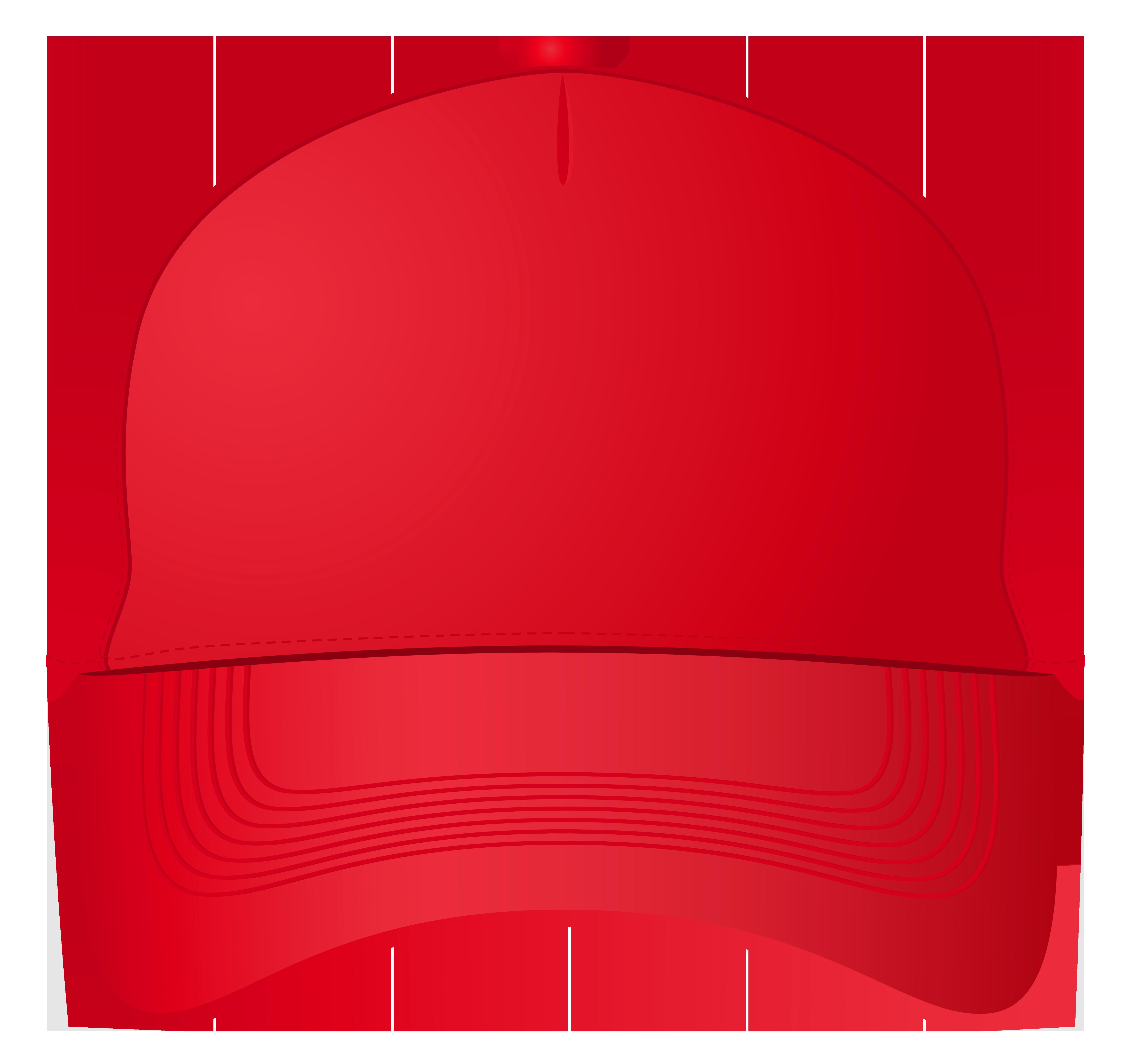 Red Baseball Cap PNG Clipart.