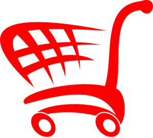 Red Basket clip art.